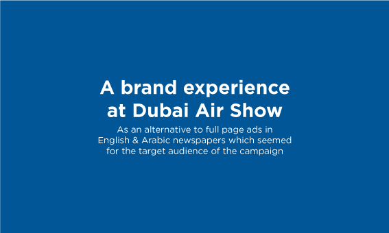 A brand experience at Dubai Air Show